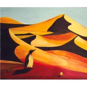 Un pingouin dans le désert